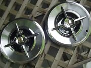 Vintage 1957 57 Dodge Lancer Knight Hubcaps Wheel Covers Center Caps Classic 2