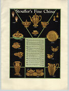 1931 Paper Ad Stouffer's Fine China Color Gold Imported Service Plates Meissen