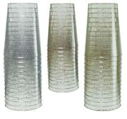 Disposable Wedding Sparkle Plastic Cup Tumblers Cups - Bulk Pack - Free Ship