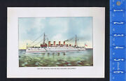 United States Protected Cruiser Uss Columbia - 1898 Spanish-american War History