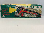 Vintage Silver Streak 3305 Mt Trademark Litho Train Tin Toy Japan In Box