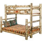 Log Bunk Beds Rustic Twin Over Full Bunkbed Amish Bunk Beds Lodge Cabin Style