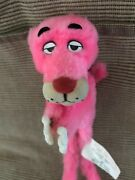 Vintage 1964 Mighty Star Pink Panther Huggy Hugger Plush Clip 8 Rare