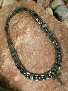 Holy Cross Triple Menand039s Powerful Magnetic Hematite Black Necklace Sport 3 Row