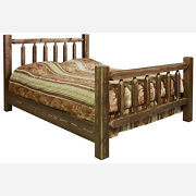 Timberjack Deluxe Rustic Pine Bed No Assembly Free Shipping Usa Handcrafted