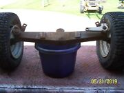 Massey Ferguson 10 Garden Tractor Front Axle With Spindles And Wheels And Tires Comp