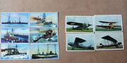 Antique Lot Wwi German Military Airplanes Ships Tobacco Cards Lloyd
