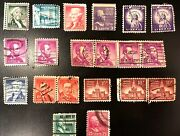 Us Postage Cancelled Stamp Lot President Fancy Dated Purple Ny Chicago 1950s 60s