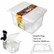 Sous Vide Container 12 Quart W/ Collapsible Hinge Lid Mount Corner Cooker Anova