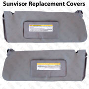 Sun Visor Replacement Cover Leather For 95-99 Chevy Tahoe Suburban Yukon Gray