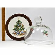 Vintage Cerno And039christmas Treeand039 Prototype Domed/covered Cheese Dish 1 Of Just 4