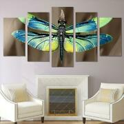 Dragonfly Wings Insect Nature Framed 5 Piece Canvas Wall Art Painting Wallpaper