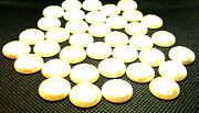 16x5mm Half Round-flat Back-pearl White-glossy Rough Top-cabochon Beadsfb2089