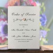 10 Order Of Service Booklets Handmade And Personalised Free Pandp