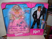 1114 Nrfb Mattel Butterfly Princess Barbie And Ken Foreign Issued Dolls