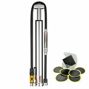 Lezyne Micro Floor Drive Hvg Bike Pump Presta And Schrader Valve W/ Patch Kit