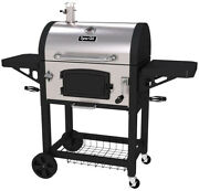 Dyna-glo Charcoal Bbq Grill Heavy-duty 2 Black Side Tables Stainless Steel