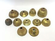 Mixed Vintage Lot Used Brass Metal Canopies Chandelier Canopy Parts Hardware