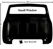 5355 Ford Truck Cab Back Panel Small Window Wo/gas Hole W/inner Brace Kit 3240c
