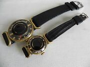 Vintage Gold Filled Juvenia Winding Watches Set Of Two