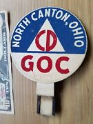 Vtg Ww2 1940s Ground Observer Corps Badge / Sign North Canton, Oh Civil Defense
