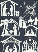 3 Groups Combined Borders Star Nativity Die Cuts Sub-sets Lots 6 - 24 Pcs. Read