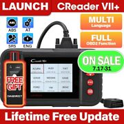 Launch X431 Vii+ Obd2 Diagnostic Scanner Code Reader Abs Srs Engine At Scan Tool