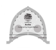 Creative Grids Machine Quilting Tool Ruler Template - Archie Sg_b0781bdlg1_us