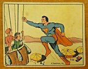 Very Rare 1940 Superman Card 25 Trapped In The Air