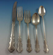 Martinique By Oneida Sterling Silver Flatware Set For 6 Service 26 Pieces