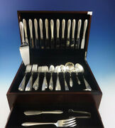 Lasting Spring By Oneida Sterling Silver Flatware Set For 12 Service 59 Pieces