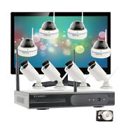 Wireless Security Camera System 8ch Hd Wifi 1080p Nvr Home Outdoor With Hdd Kit