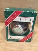 Vng Hallmark American Farm Scene Currier And Ives Ball Ornament Dated 1987