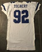 Dallas Cowboys Tony Tolbert Vintage Game Issued 1992 Russell Jersey Size 52 L