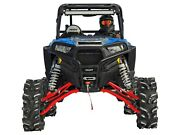 Superatv 10and039and039 Lift Kit W/ X300 Axles For Polaris Rzr Xp Turbo 2016+ - Red