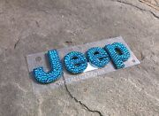 Crystallized Letters For Jeep Front Emblem Car Bling Grille W/genuine Crystal