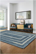 Capel Rugs Alliance Soft Chenille Polyester Braided Concentric Rug Chambray 445