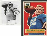 Bobby Layne Original Detroit Lions Team Issued Photo Used 4 1956 Topps Football