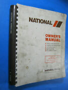 National 400 Truck Crane Service Owners Manual Parts Operation Maintenance Oem