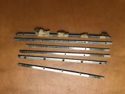 Jaguar Saloon And Etype Chrome Hinge Plate For Rear No Draft Vents Screws