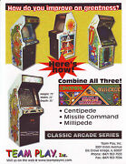Centipede Millipede Missile Command Arcade Flyer Team Play Video Game Art Print