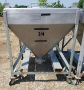 20 Cu.ft. Stainless Steel Tote Tank/hopper 150 Gal. Stackable And Portable