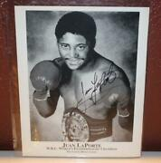 Signed Photo Of Juan Laporte W.b.c Worlds Featherweight Champion 115