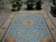 An Important Antique Turkish Rug With Light Blue Field
