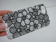 Galaxy S10e Bling Case Made With Crystal Silver Flowers Diamonds Cover