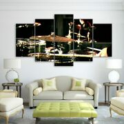 Drum Performance Music Instrument 5 Pieces Canvas Wall Picture Poster Home Decor
