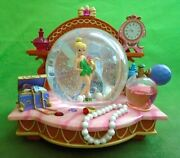 Disney Tinkerbell Musical Snow Globe You Can Fly Vanity Jewelry Pearls