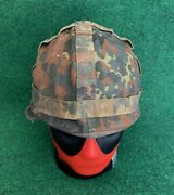 Vintage German Army Military Helmet With Linerandcover Size 53-55 Made In Germany