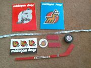 Sale Michigan Stags Lot - Tickets, Puck. Programs, Bumper Sticker, Pin And More