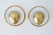 Set Of Two Mid Century Modern Brass Wall Lamps Sconces Jacques Biny Era, 1950s